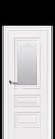 Двери межкомнатные Новый Стиль Статус (Стекло сатин  без молдинга и рисунком) ПП Premium