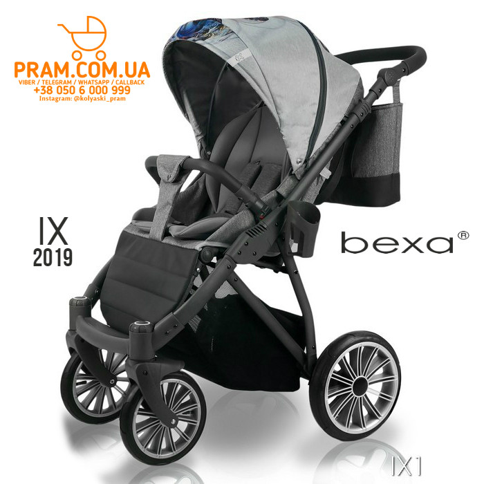 Bexa IX 2019 прогулочная коляска IX1 Серый