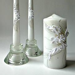 Свадебные свечи белые