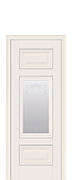 Двери межкомнатные Новый Стиль Шарм (Со стеклом с молдингом и рисунком) ПП Premium, фото 1