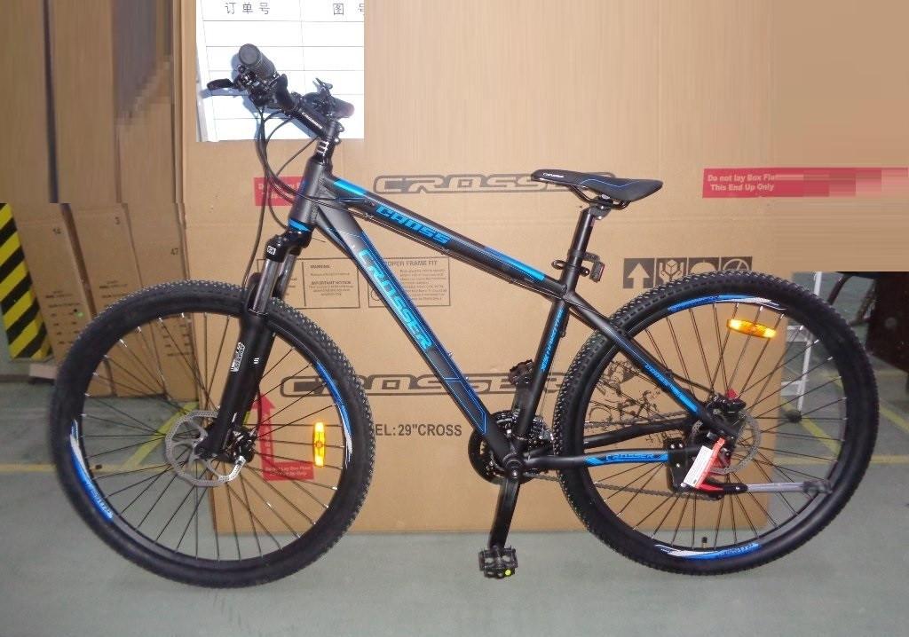 """Crosser Cross 29"""" двухколесный велосипед алюминиевая рама черно-синий"""