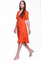 Летнее платье длиной миди на пуговицах