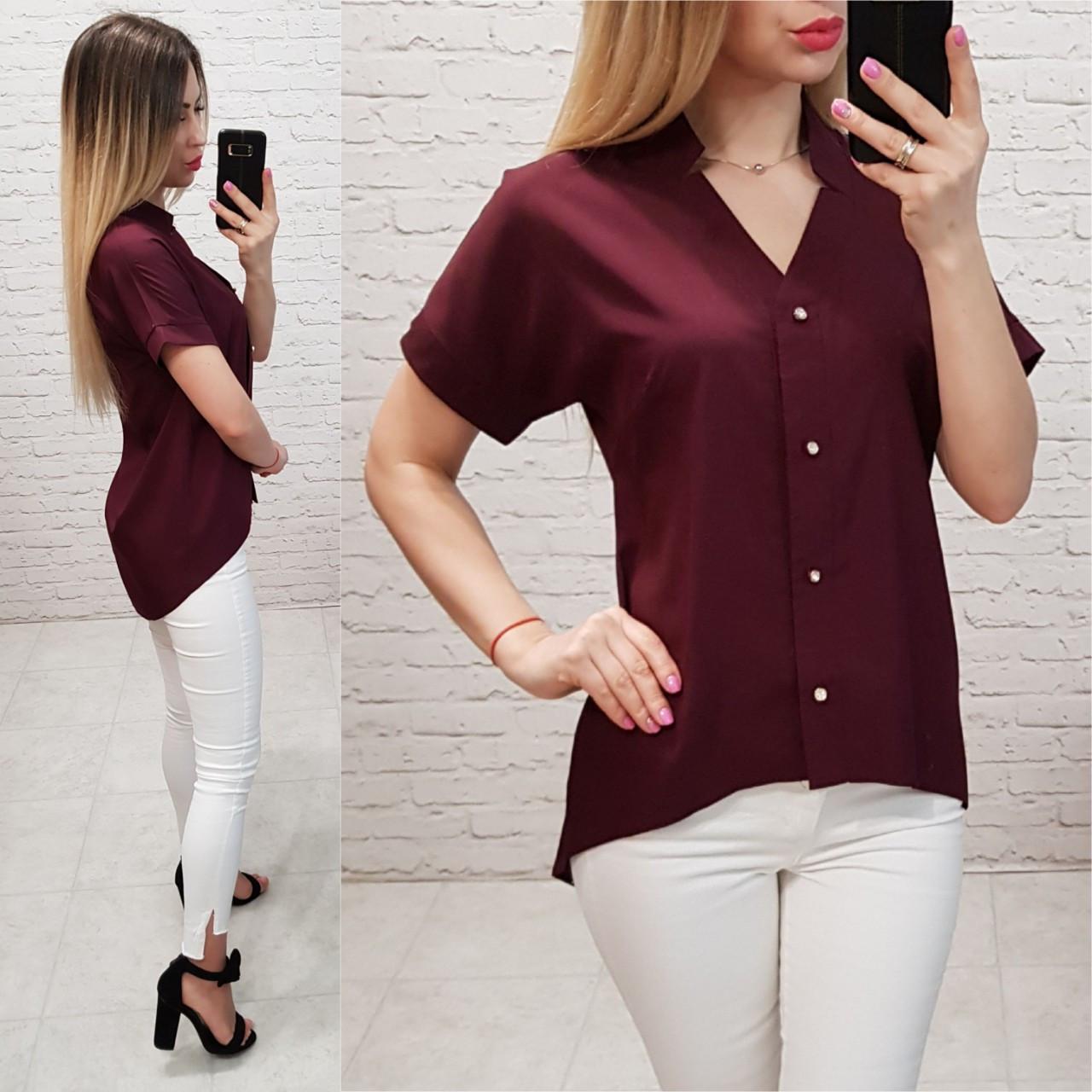 Блуза жіноча, софт, модель 160, колір - бордо