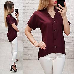 Блуза женская, софт, модель 160, цвет - бордо