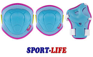 Комплект защитный Nils Extreme H106 Size XS,S Blue/Pink