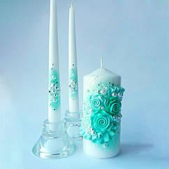 Свадебные свечи тиффани