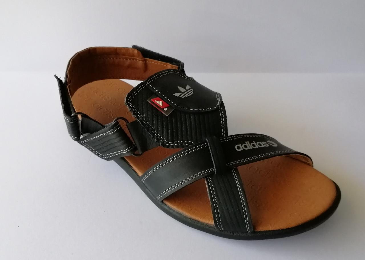 Кожаные мужские  сандали  летние  40-45 черный