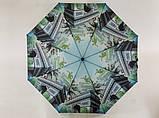 Мини зонтики механические с городами 8 спиц 5 сложений цвет зеленый и голубой, фото 2
