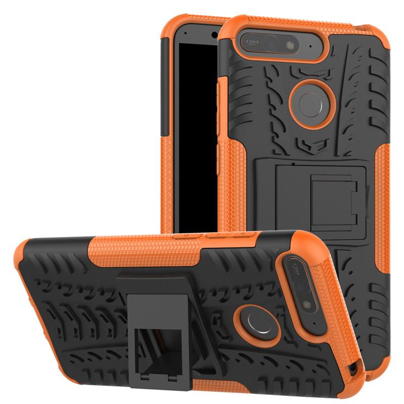 Чехол противоударный Armor для Huawei Y6 Prime 2018 Оранжевый