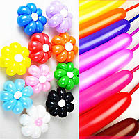 Воздушные шары ШДМ D4 260-й пастель «ассорти цветов»