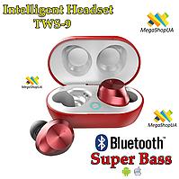 Беспроводные Bluetooth наушники Intelligent Headset Air Pro TWS 9 Super Bass Сенсорные с боксом для зарядки