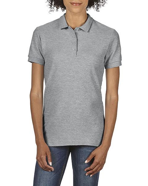 Женская рубашка поло, св.серый, GILDAN Soft Style 64800L, размеры от S до XXL, плотность 177 г/м2