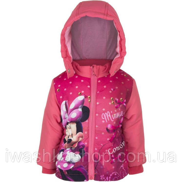 Коралловая демисезонная куртка с Минни Маус, Minnie Mouse на девочек 6 месяцев, р. 67, Disney baby
