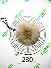 Меховой помпон Енот, 8/10 см, 230, фото 2