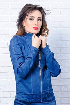 Весняна куртка *Бомбер* , синя