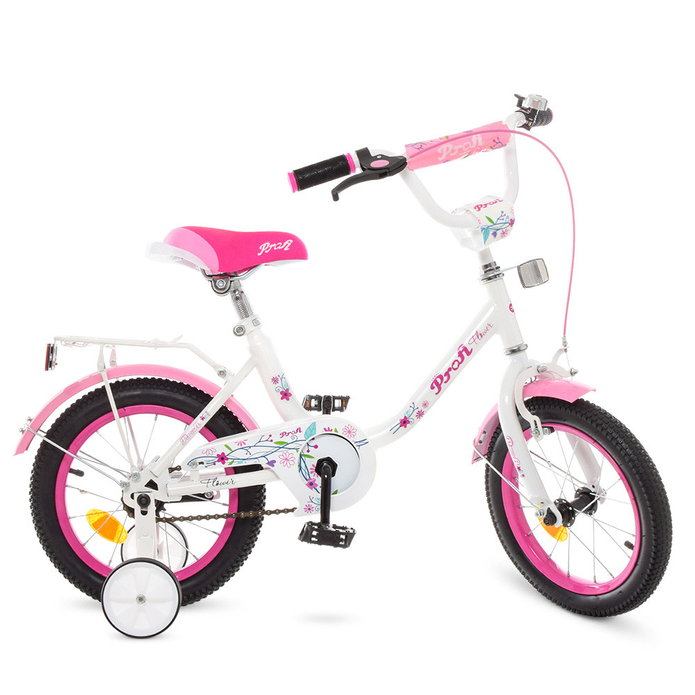 Велосипед детский PROF1 14д. Y1485 Белый