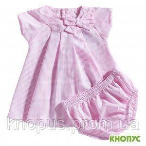 """Комплект платье и трусики  для маленькой девочки, """"Клеточка"""", Girandola, размер 74"""