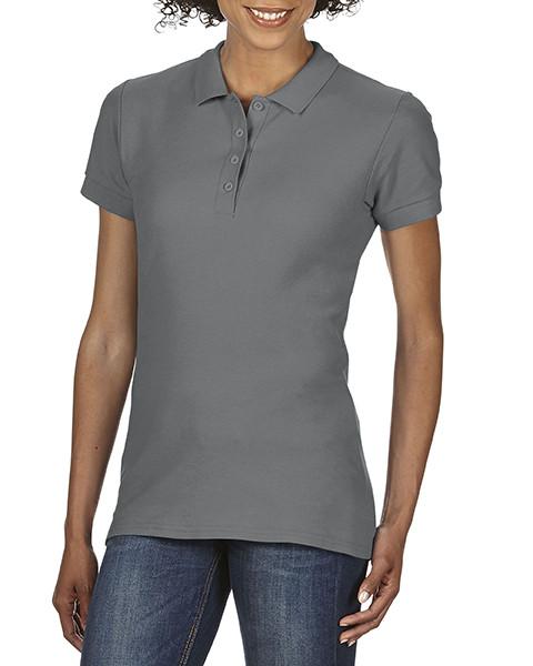 Женская рубашка поло, графит, GILDAN Soft Style 64800L, размеры от S до XXL, плотность 177 г/м2