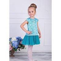 """Нарядное платье  для девочки """"Льдинка"""",Zironka, размеры 98, 104"""