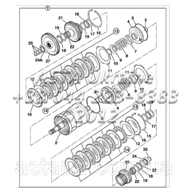 Сцепление, коробка передач, трансмисия PS760 F3-5-1