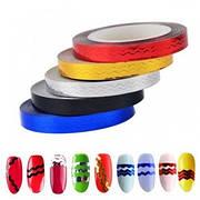 Стрічка для дизайну нігтів (зигзаг) в рулоні 6 mm., упаковка 10 шт