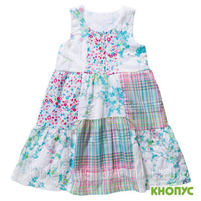 """Платье для девочки, летнее """"Кантри"""" , Girandola, размеры 116, 128"""