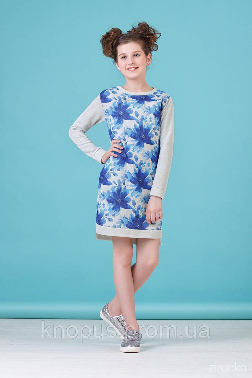 Повседневно-нарядное платье  для девочки c с длинным рукавом, Zironka, размеры 134-152