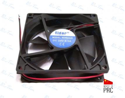 Универсальный осевой вентилятор Tidar 92×92×25мм, 24В, 0,3А (квадратный)