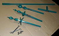 Садовый ручной разборной мини-бур диаметром 50, 70 и 100 мм глубиной 110 см, ширина ручки 28 см