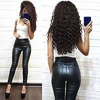 Кожаные женские штаны в обтяжку, фото 1