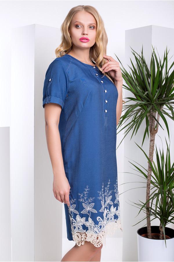 122e1788f67 Джинсовое платье с кружевом