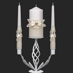 Набор свадебных свечей в молочном цвете