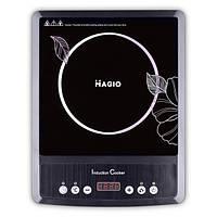 Электроплитка индукц. Magio MG-446 2000Вт, неполиров.черн.стекло, LED диспл.