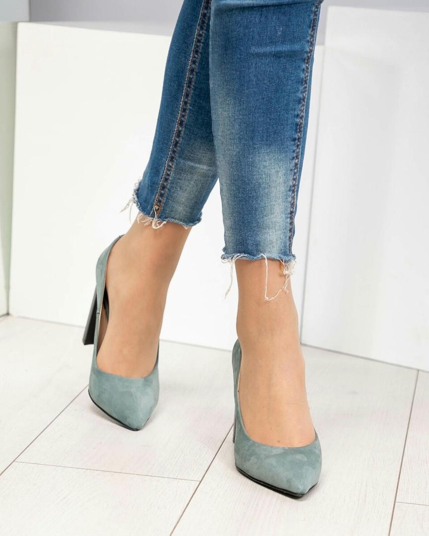 Туфли женские  Exclusive с фигурным каблуком