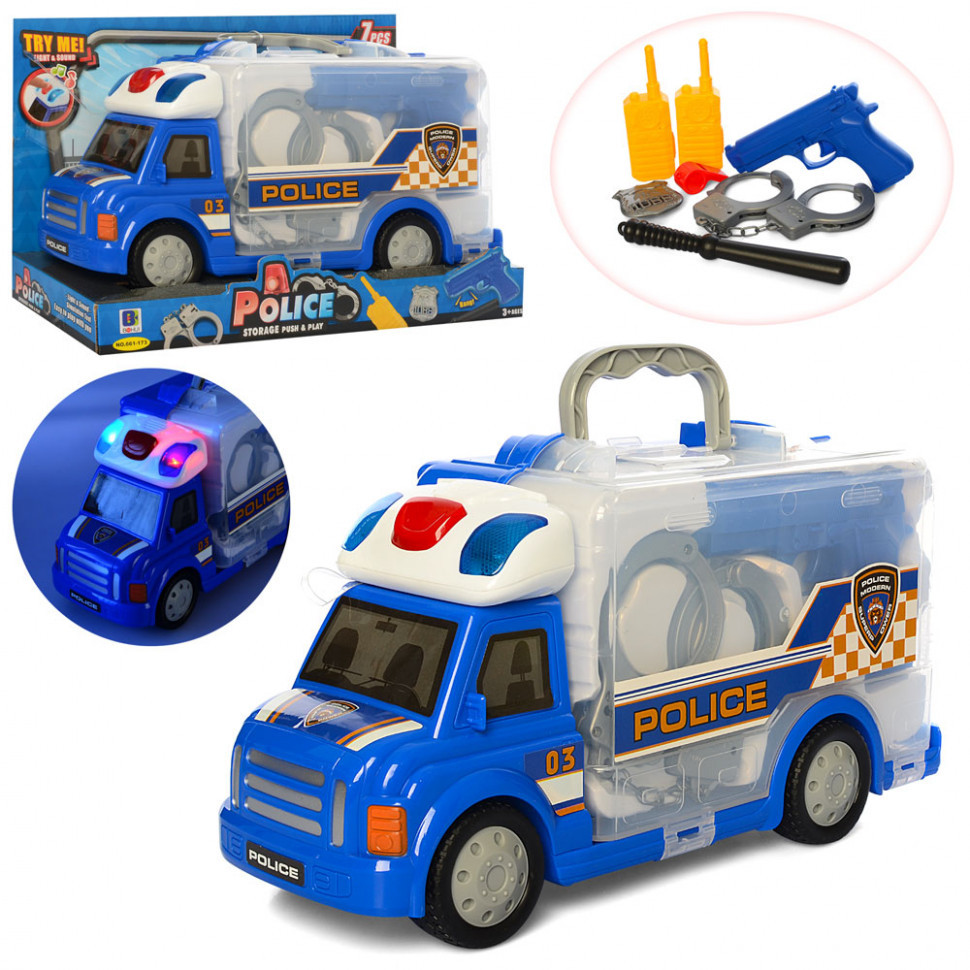 Игровой набор полицейского в машине