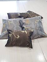 Комплект подушек Веточка шоколад, 5шт, фото 1