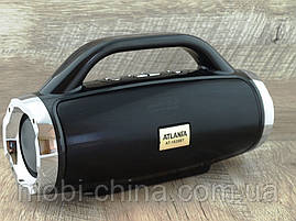 Atlanfa AT-1829bt BoomBox 12W, портативная колонка с Bluetooth FM и MP3, черная, фото 3