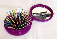 Расческа складная с зеркальцем Salon, маленькая, фиолетовая