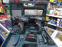 Набор аккумуляторной техники Bosch Professional ударный гайковерт GDR 120-Li + дрель-шуруповерт GSR 120-Li, фото 1