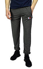 Серые мужские спортивные штаны с манжетами TOMMY