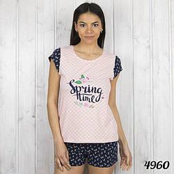 Комплект-двойка женский: футболка и шорты Spring Time Pink Secret Турция PK4960