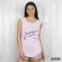 Розовый комплект-двойка женский: футболка и шорты Pink Secret Турция PK5036