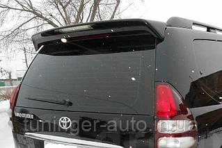 Спойлер на Toyota LC Prado 120  2002-2009 (Черный)