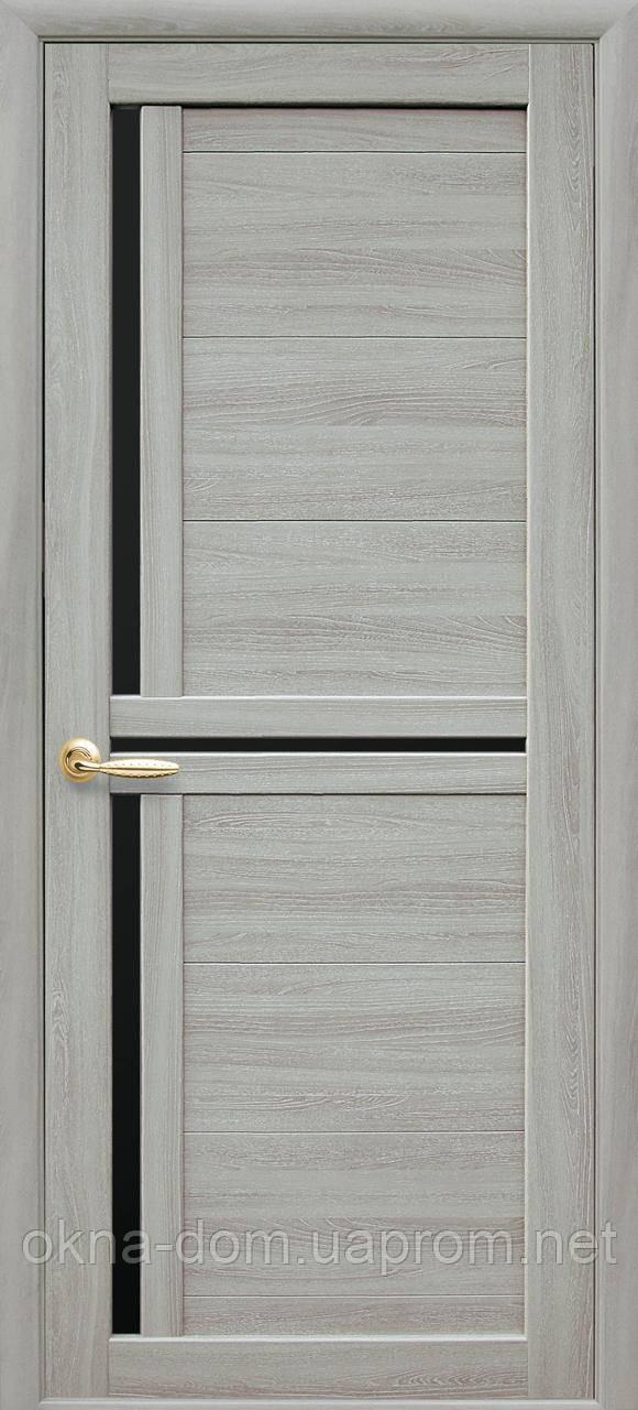 Двери межкомнатные Новый Стиль  Тринити с черным стеклом