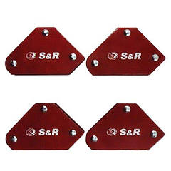 Комплект магнитных угольников для сварки S&R 4шт. 290104005