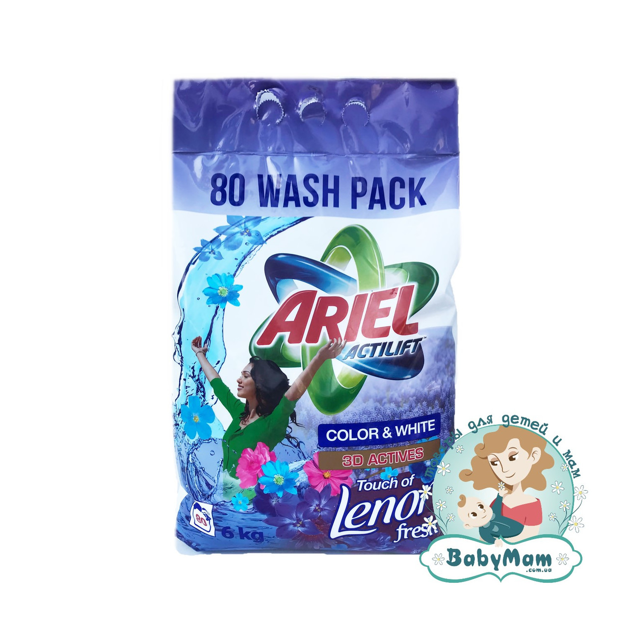 Стиральный порошок Ariel Actilift Color & White (Touch of Lenor), 6кг
