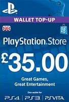 Карта пополнения счета PlayStation Network PSN 35 фунтов