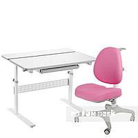 Комплект парта Colore Grey + подростковое кресло для дома Bello I Pink FunDesk , фото 1