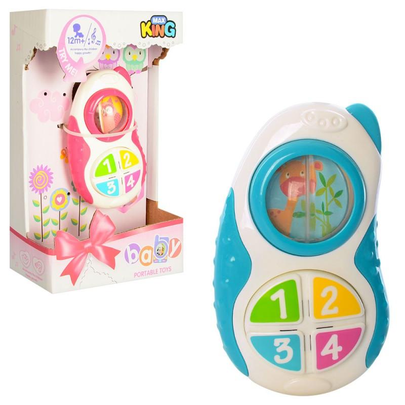 Телефон дитячий, 2 види, світло, музика, на батарейки, в коробці, 14-23-6,5 см
