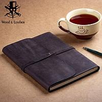 Софт-бук.Блокнот А5 в кожаной обложке ручной работы от мастерской Wood & Leather, фото 1